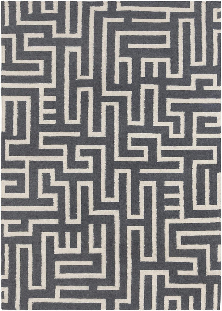 Lima Collection Hand-Woven Area Rug, Grey design by Chandra rugs