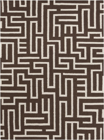 Lima Collection Hand-Woven Area Rug, Brown