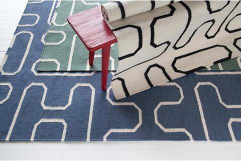 Lima Collection Hand-Woven Area Rug, Blue design by Chandra rugs