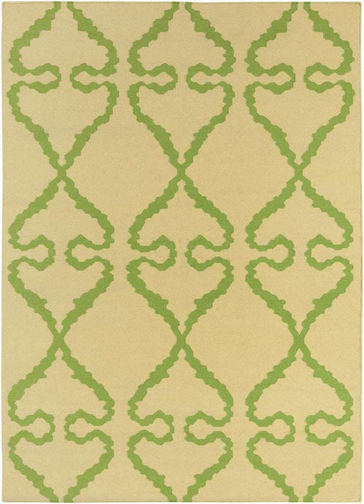 Lima Collection Hand-Woven Area Rug, Beige & Green design by Chandra rugs