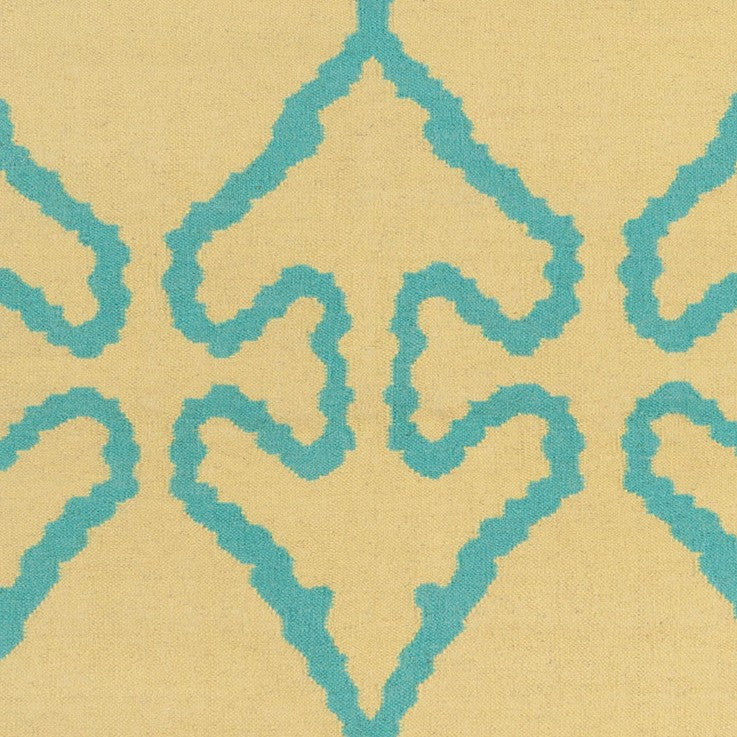 Lima Collection Hand-Woven Area Rug, Beige & Blue design by Chandra rugs