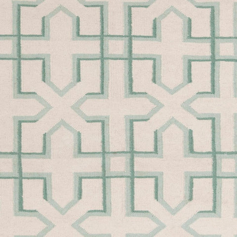 Lima Collection Hand-Woven Area Rug, Beige & Green