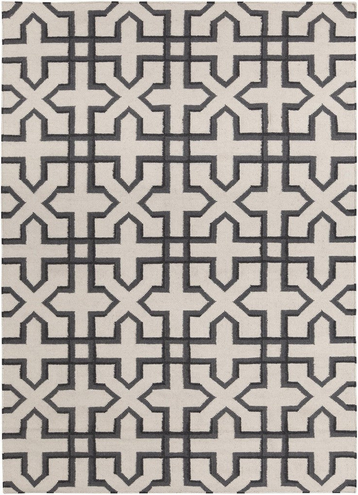 Lima Collection Hand-Woven Area Rug, Beige & Black design by Chandra rugs