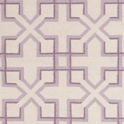 Lima Collection Hand-Woven Area Rug, Beige & Purple design by Chandra rugs