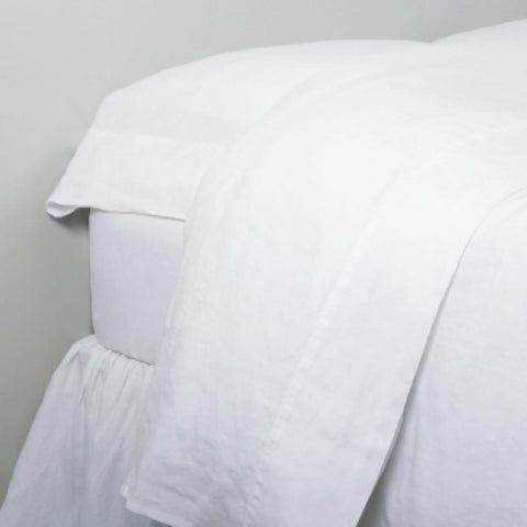 Linen Sheet Set in White design by Pom Pom at Home