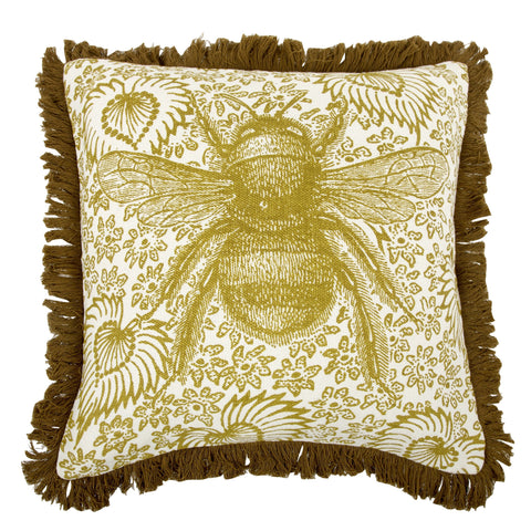 Buzz Linen Pillow in Honey design by Thomas Paul