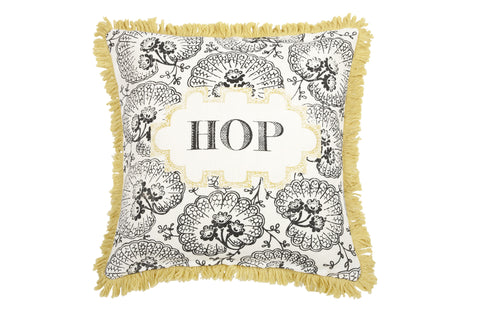 Hop Linen Pillow in Pewter design by Thomas Paul