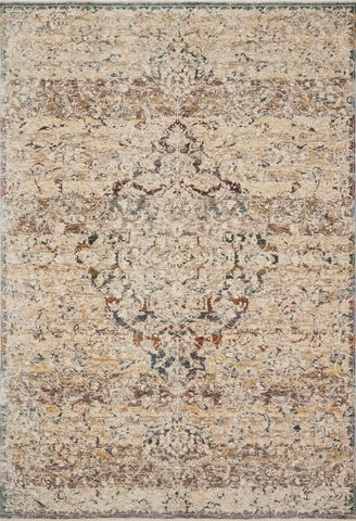 Lourdes Rug in Ivory / Multi by Loloi