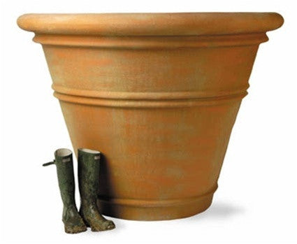 Large Pot Planter in Terracotta Finish design by Capital Garden Products