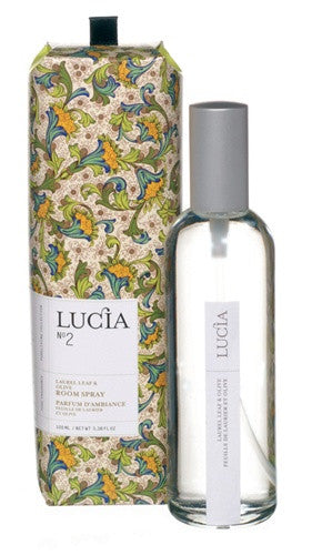 Lucia Olive Blossom and Laurel Room Spray design by Lucia
