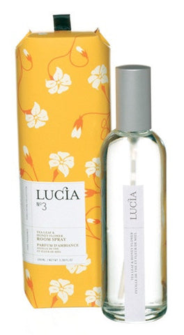 Lucia Tea Leaf and Wild Honey Room Spray design by Lucia