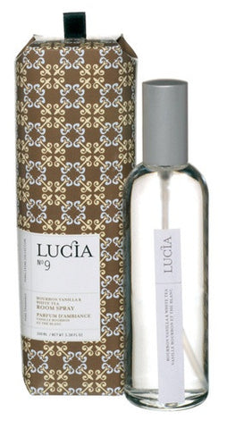 Lucia Bourbon Vanilla and White Tea Room Spray design by Lucia