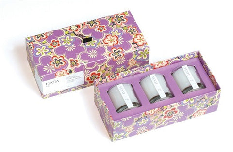 Lucia Wild Ginger & Fresh Fig Votive Trio Set design by Lucia