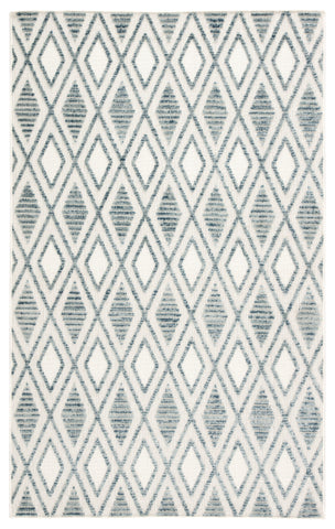 Meira Indoor/ Outdoor Trellis Blue/ White Rug design by Jaipur