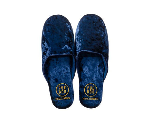 Velvet Slipper - Large - Navy Blue