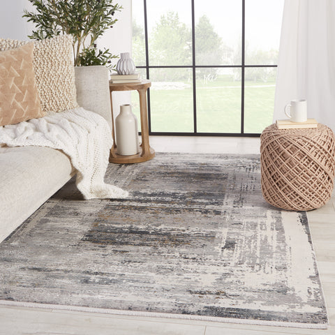 Rialto Abstract Grey & White Rug by Jaipur Living