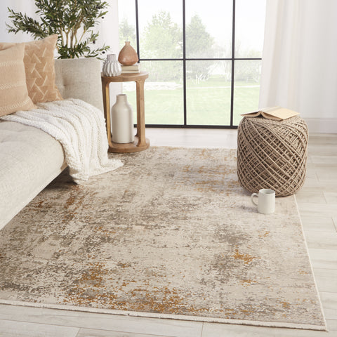 Henson Abstract Grey & Gold Rug by Jaipur Living