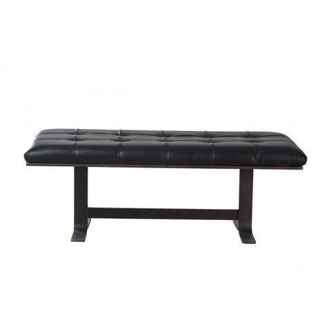Flare Bench Black Leather by BD Studio III