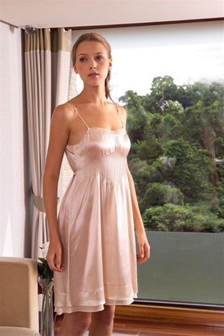 Michelle Silk Short Gown design by Kumi Kookoon