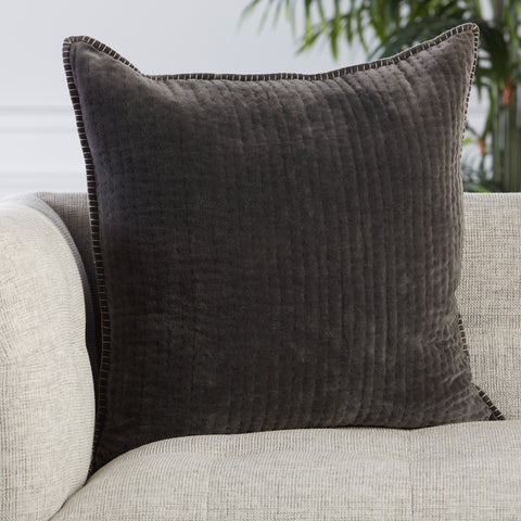 Beaufort Pillow in Dark Gray by Jaipur Living