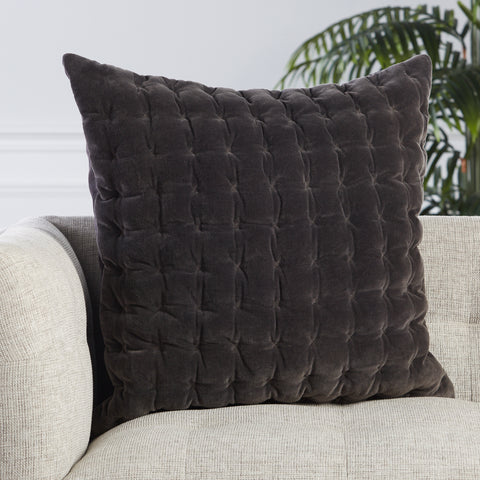 Winchester Pillow in Dark Grey by Jaipur Living