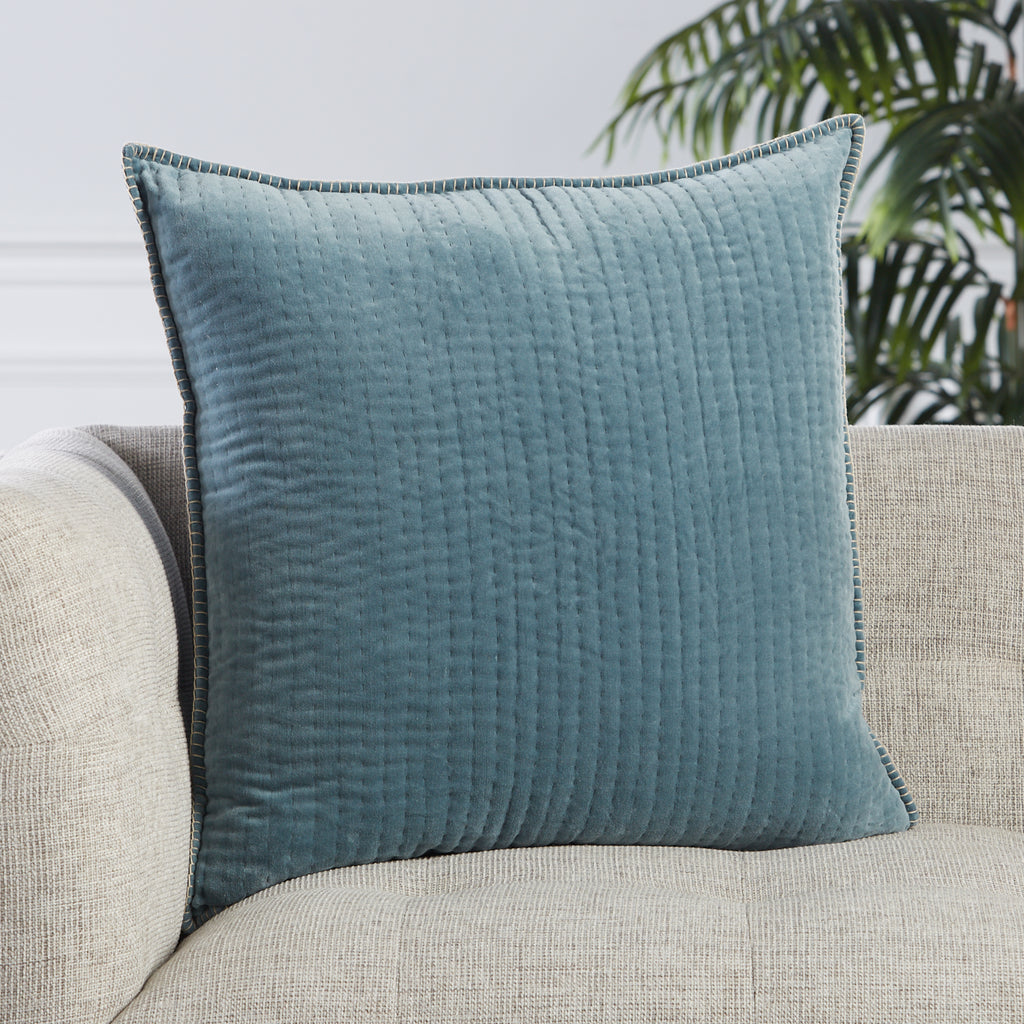 Beaufort Striped Pillow in Blue & Beige by Jaipur Living