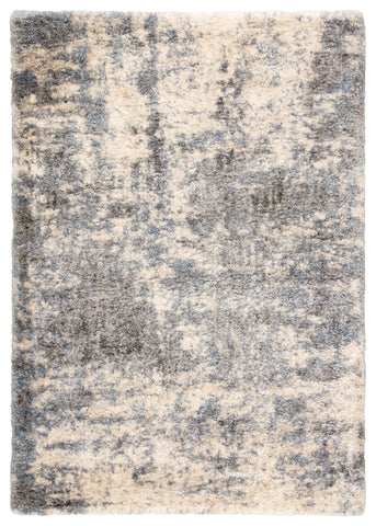 Cantata Abstract Gray/ Blue Rug design by Jaipur