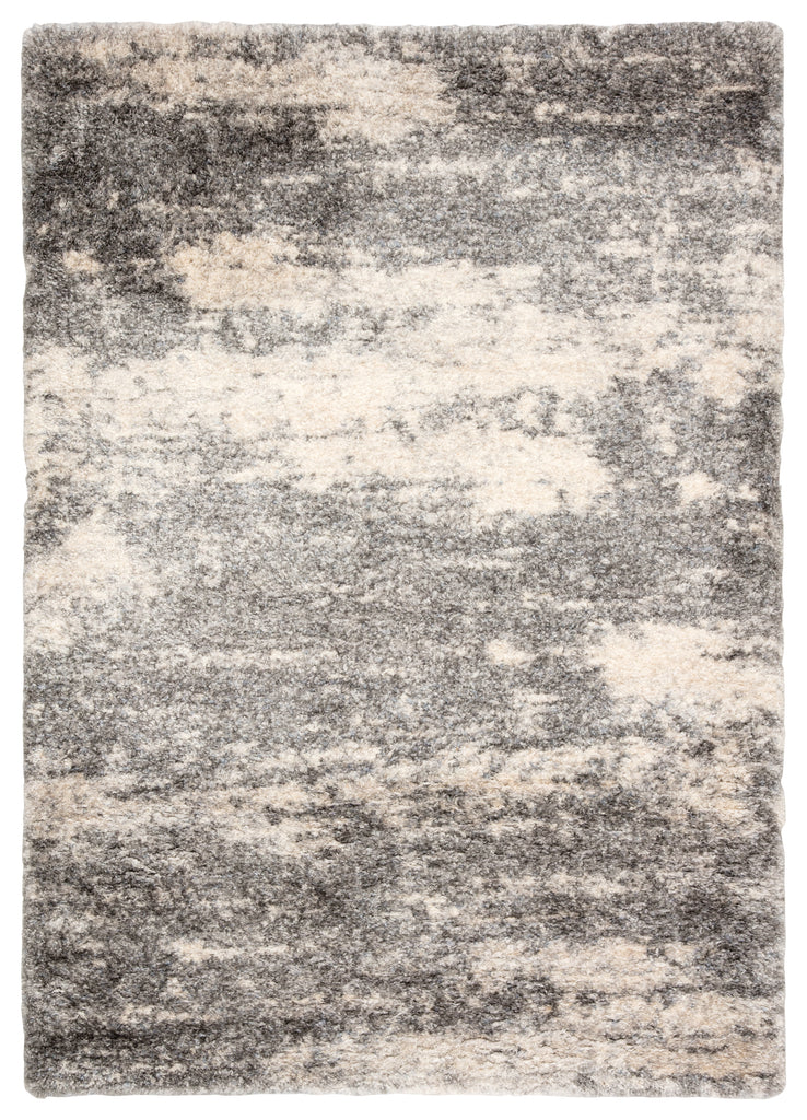 Elodie Abstract Gray/ Ivory Rug design by Jaipur