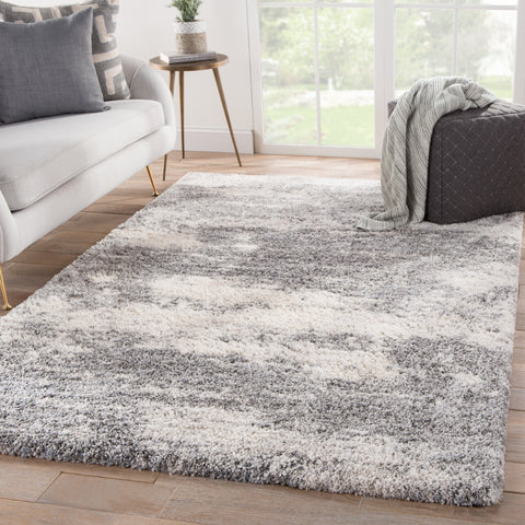 Elodie Abstract Gray & Ivory Area Rug
