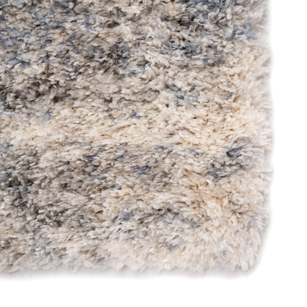 Harmony Abstract Light Gray/ Blue Rug design by Jaipur