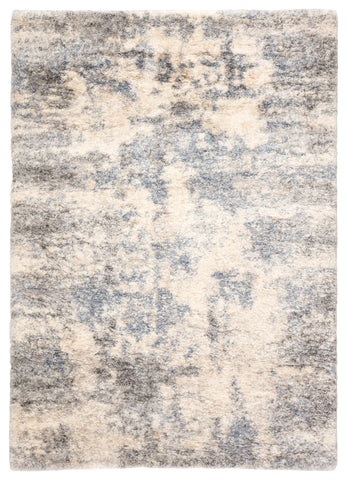 Harmony Abstract Light Gray & Blue Area Rug