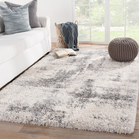 Serenade Abstract Ivory/ Light Gray Rug design by Jaipur