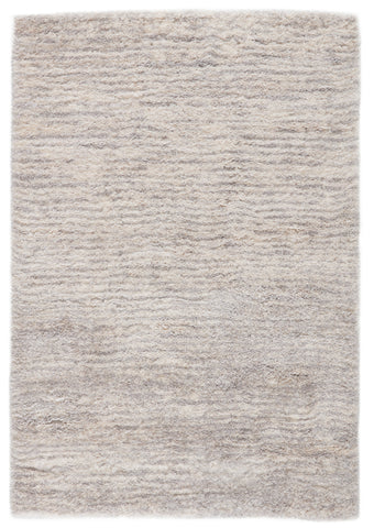 Staves Stripes Light Gray & Cream Area Rug