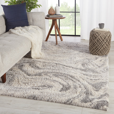 Crescendo Abstract Gray & Ivory Area Rug