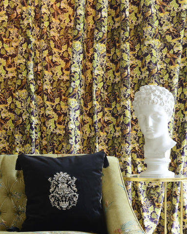 La Voliere Velvet Fabric in Multi by Mind the Gap