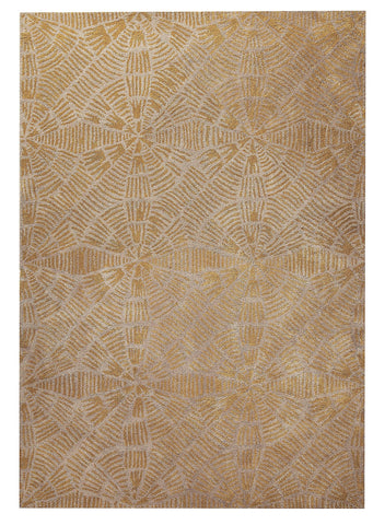 Labyrinth Collection Hand Tufted Wool Area Rug in Grey and Brown design by Mat the Basics