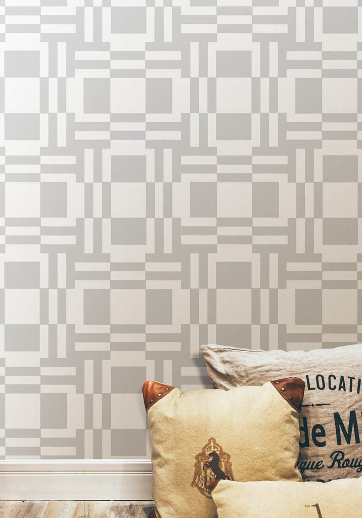 Labyrinth of Mirrors Wallpaper in Grey from the Ella & Sofia Collection by Milton & King