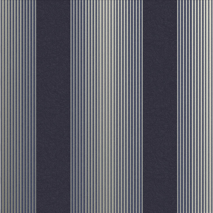 Lagom Stripe Wallpaper in Navy and Gold from the Exclusives Collection by Graham & Brown