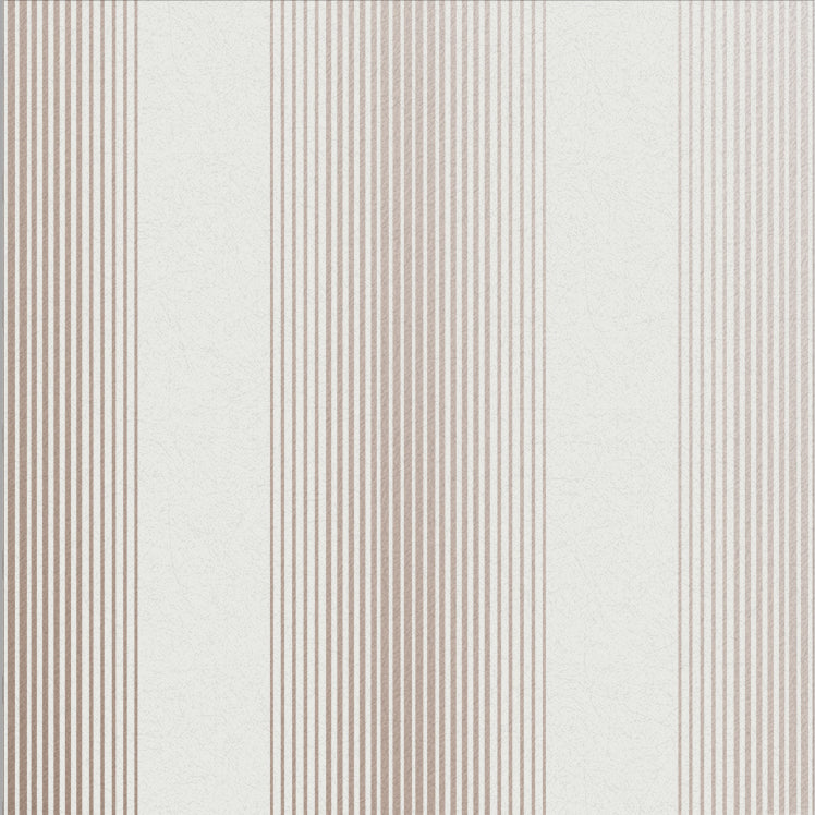 Lagom Stripe Wallpaper in White and Rose Gold from the Exclusives Collection by Graham & Brown