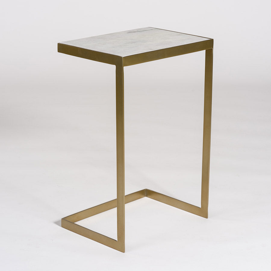 Laguna Accent Table in Antique Brass