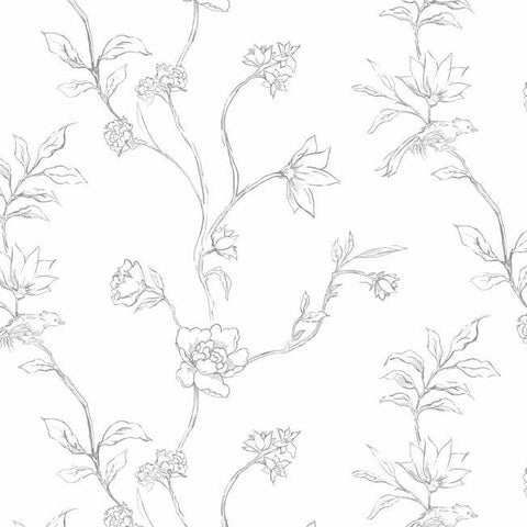 Lamartine Wallpaper in Graphite by Christiane Lemieux for York Wallcoverings