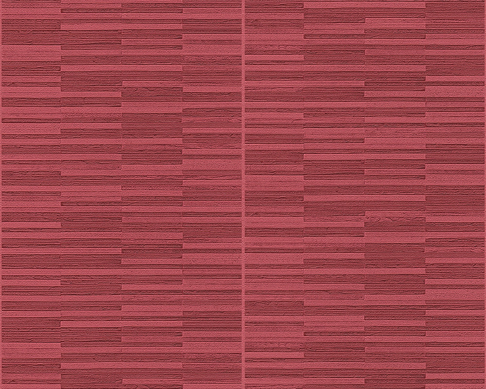 Lamellar wallpaper in red design by bd wall burke decor for Red wallpaper designs for walls