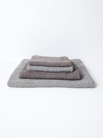 Lana Grey Towels in Various Sizes design by Morihata