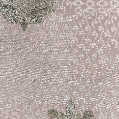 Lani Textured Floral Geometric Wallpaper in Taupe and Pearl by BD Wall