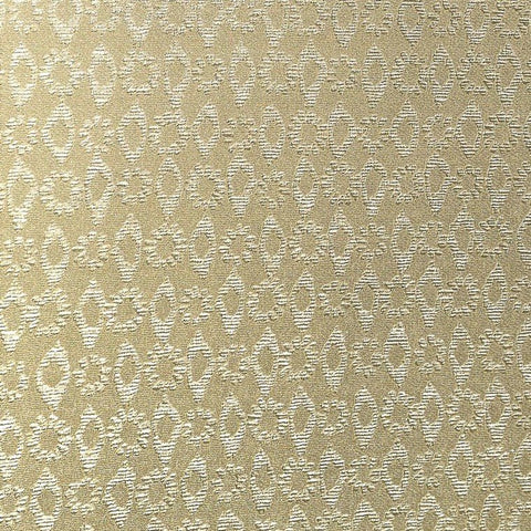 Larah Textured Floral Geometric Wallpaper in Gold by BD Wall