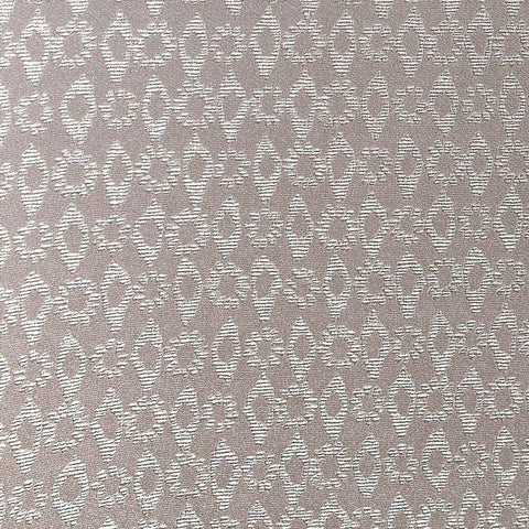 Larah Textured Floral Geometric Wallpaper in Pearl and Taupe by BD Wall