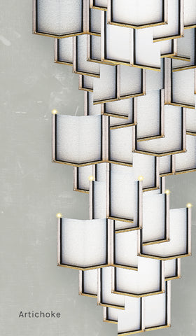 Lattice Systems LED Wallpaper in Various Colors by Meystyle
