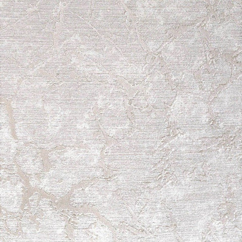 Laura Cracked Plaster Textured Wallpaper in Grey Metallic by BD Wall