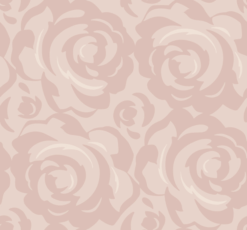 Sample Lavish Wallpaper in Blush from the Breathless Collection by Candice Olson for York Wallcoverings