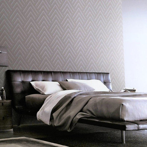 Layla Chevron Textured Wallpaper by BD Wall